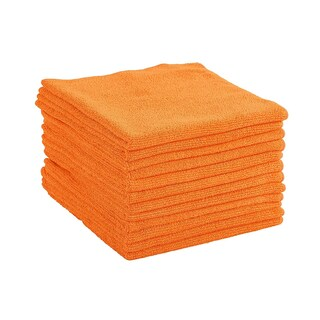 Dri Professional Extra-Thick Microfiber Cleaning Cloth - 16 in x 16 in - 72 Pack (Option: Orange)
