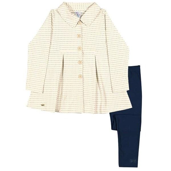 Girls Outfit Pea Coat Jacket and Leggings Kids Set Pulla Bulla Sizes 2-10 Years