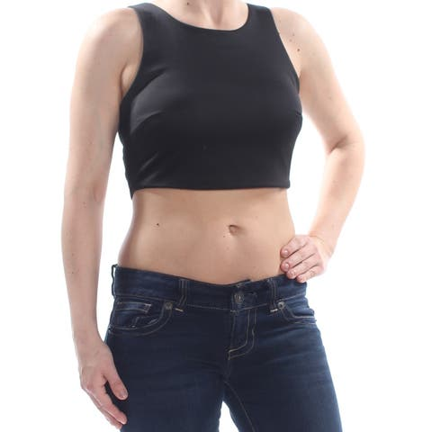 SEQUIN HEARTS Womens Black Sleeveless Top Juniors Size: 1