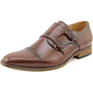Beston EA28 Men Square Toe Synthetic Brown Oxford