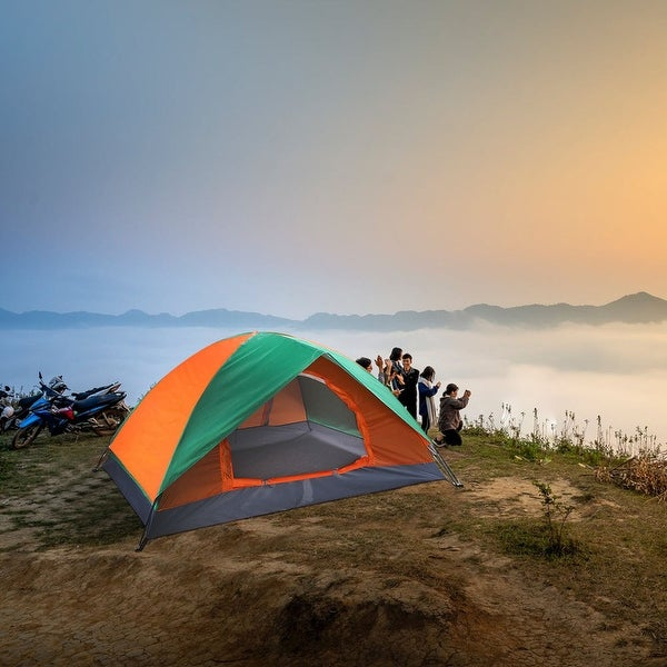 AOOLIVE Waterproof 2 People Double Door Camping Tent and Carry Bag. Opens flyout.