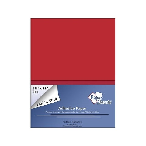 Self Adhesive Paper 8.5x11 3pc Red