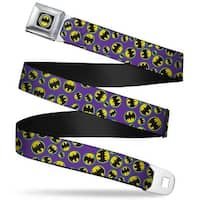 Bat Signal Full Color Black White Yellow Bat Signal Scattered Purple Blue Seatbelt Belt