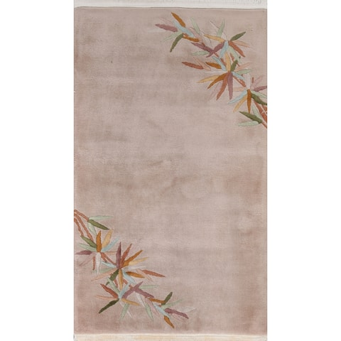 """Vegetable Dye Art Deco Chinese Area Rug Wool Hand-knotted Foyer Carpet - 3'1"""" x 5'0"""""""