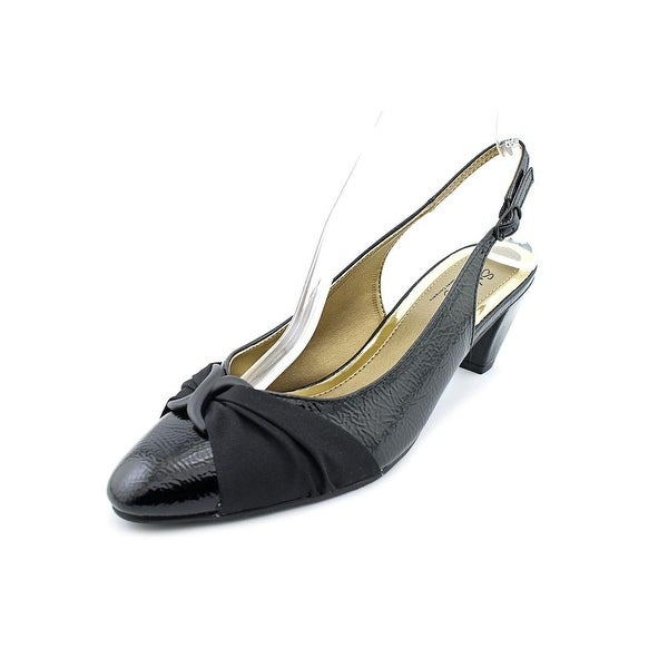 Soft Style by Hush Puppies Dezarae Women Black Crinkle Pumps