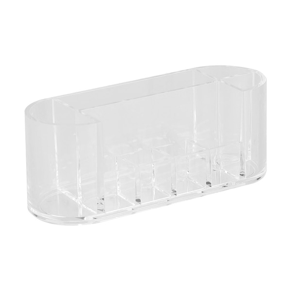 "Clear Acrylic Makeup Organiser Storage Cosmetic Brushes Holder with Compartment - 17.5 x 6.3 x 6.7cm/6.89"" x 2.48"" x 2.64"""