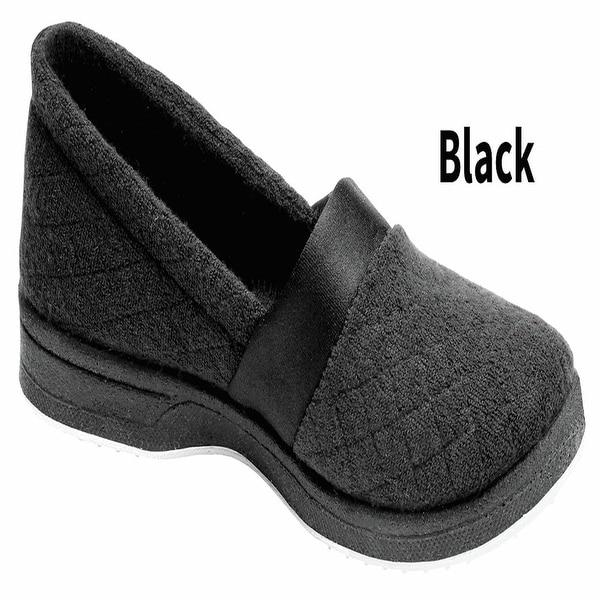 Foamtreads All Season Slip On Slippers for Women with Rubber Sole - Wide Width