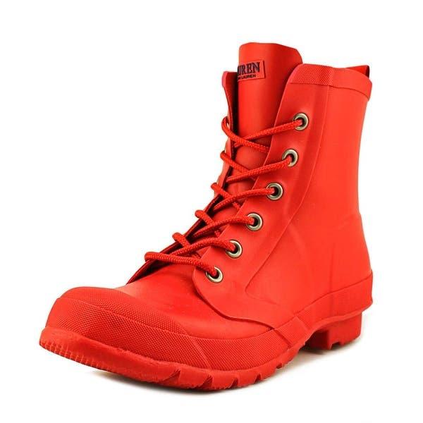 Shop Lauren Ralph Lauren Mikenna Bo Rai Women Round Toe Synthetic Red Rain Boot Overstock 17519938