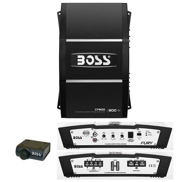 Boss 2 Channel 800W Max Fury Series Amplifier