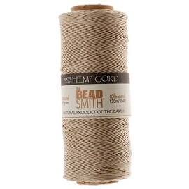 Beadsmith Natural Hemp Twine Bead Cord 0.55mm / 394 Feet (120 Meters)