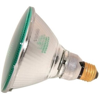 Sylvania 16665 Hardglass Reflector Lamp Bulb, 90-Watt, Green
