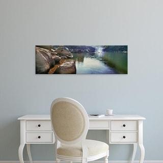 Easy Art Prints Panoramic Images's 'View of waterfall, Cumberland Falls, Cumberland River, Kentucky, USA' Canvas Art