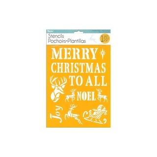 Darice Stencil 8.5x11 Christmas Classic