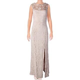 Lauren Ralph Lauren Womens Formal Dress Front Slit High-Neck