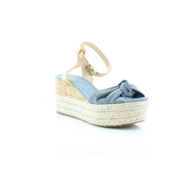 MICHAEL Michael Kors Maxwell Mid Wedge Women's Sandals Washed Denim