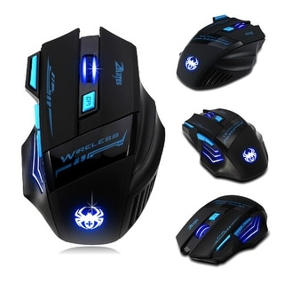 Link to AGPtek 7 Buttons LED Optical Wireless Gaming Mouse For Win7/8 ME XP, 2400 DPI /1600 DPI /1000 DPI /600 DPI - SIZE Similar Items in Keyboards & Mice