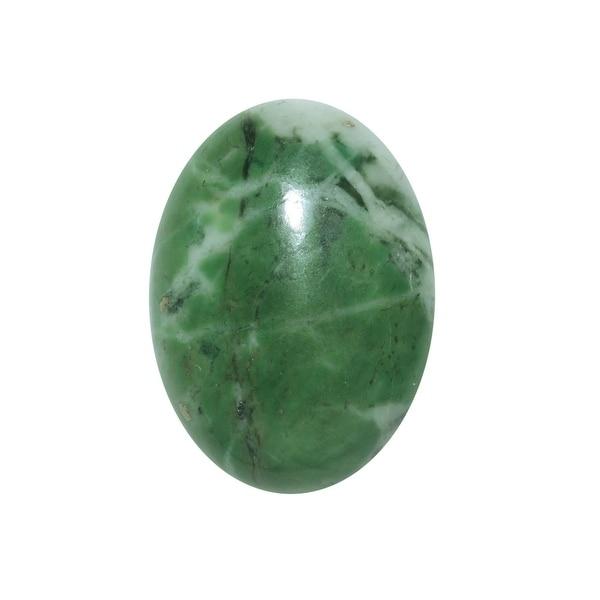 Zing Jiang Jade Gemstone Oval Flat-Back Cabochons 25x18mm (1 Piece)