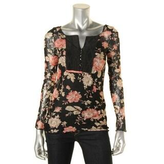 Denim & Supply Ralph Lauren Womens Casual Top Lace Floral Print