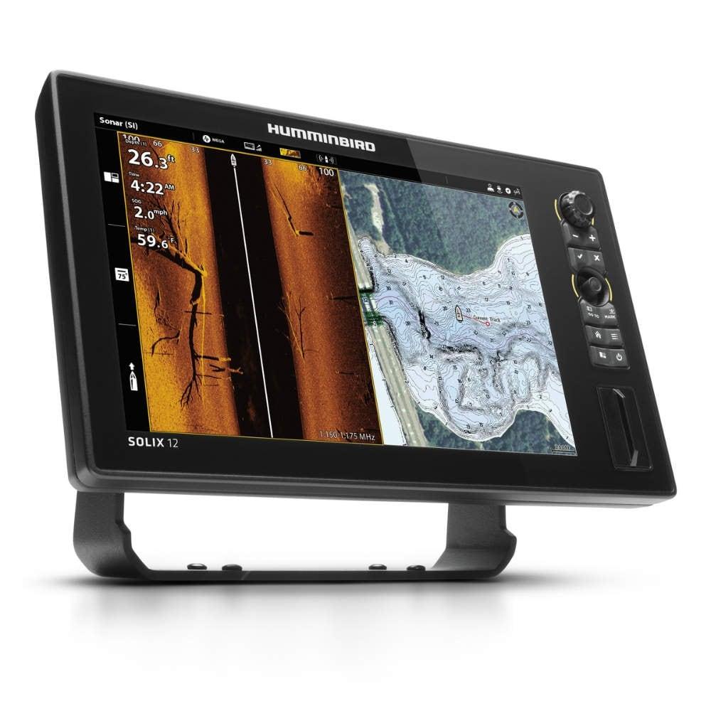 Humminbird 411030-1 SOLIX 12 CHIRP MEGA SI Fishfinder/GPS Combo G2 w/  Transducer