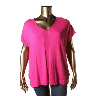 Two by Vince Camuto Womens Colorblock Knit Knit Top
