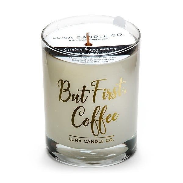 Warm Caramel Coffee Glass Candle ,Hints of Maple and Caramelized Sugar