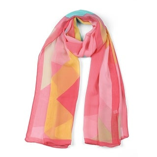 "Chiffon Shawls Long Geometric Style Beach Scarf Scarves for Women - 63""x19.6"""