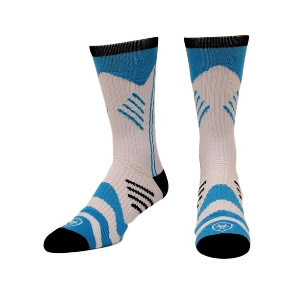 Ariat Socks Mens Arch Support Performance Athletic L Blue