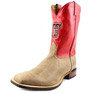 Nocona Texas Tech Vintage Cow Men Square Toe Leather Red Western Boot