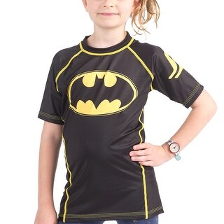Fusion Fight Gear Kid's Batman 1989 Black Logo Short Sleeve Rashguard
