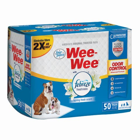 Four Paws Wee-Wee Odor Control with Febreze Freshness Pads