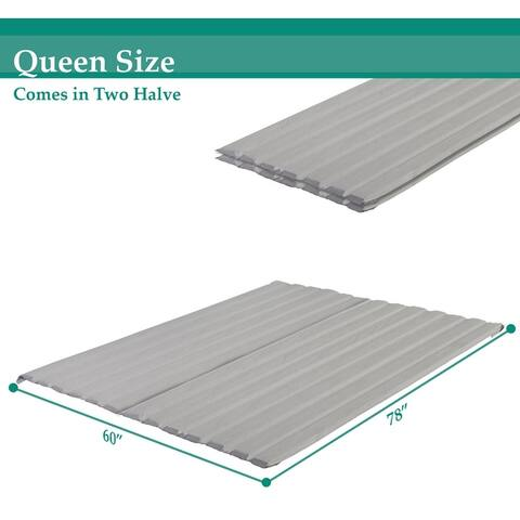 Onetan, 0.75-Inch Vertical Mattress Support Wooden Bunkie Board/Slats With Cover,