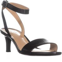 naturalizer Tinda Ankle Strap Sandals, Black Leather