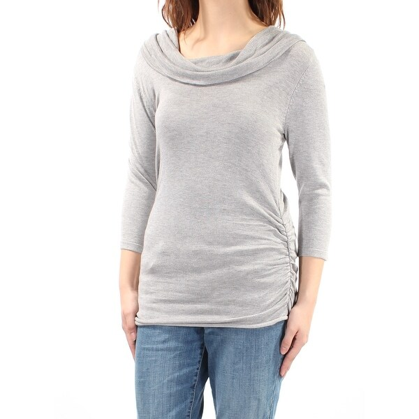 2730d2304a35 Shop PINK ROSE Womens Gray Long Sleeve Cowl Neck Sweater Size  M ...