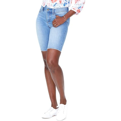 NYDJ Womens Briella Bermuda Shorts Denim Tummy Slimming