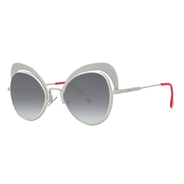 31de9e919e06 Fendi FF 0247 S 0VK6 Eyeshine White Grey Gradient Cat Eye Sunglasses - 54mm-