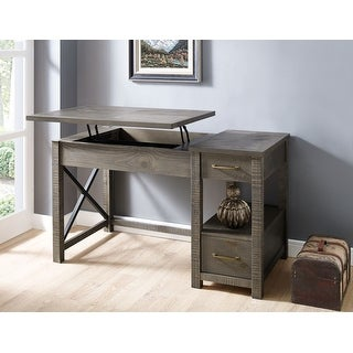 Carbon Loft Denton Driftwood Lift-top Desk