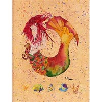 Carolines Treasures 8339CHF 28 x 40 in. Mermaid Flag Canvas House Size