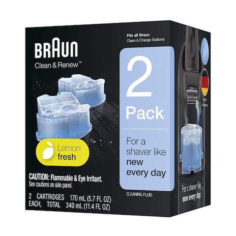 Braun Clean and Renew Refill Cartridges (2-Count) - Black