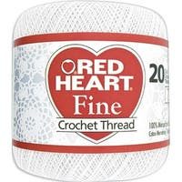 - Crochet & Floss 477618 Red Heart Fine Crochet Thread Size