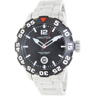 Nautica Men's Bfd 100 N18622G Silver Stainless-Steel Quartz Fashion Watch