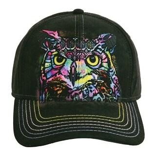 Unisex Adult Adjustable Tie Dye Animal Printed Baseball Hats - Owl