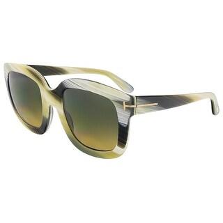 Tom Ford FT0279/S 62F Christophe Olive Horn Square Sunglasses