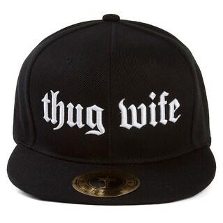 Thug Wife Flat Bill Black Adjustable Snapback