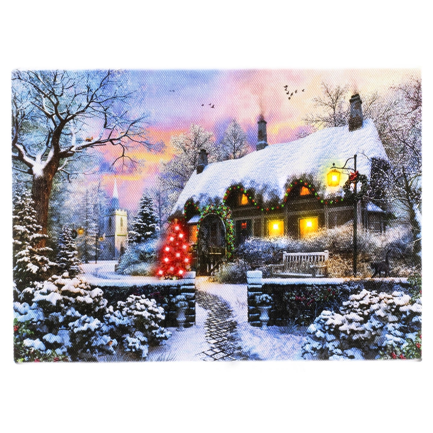 Fairy Winter House Led Lighted Canvas Wall Art 5 9 X 8 3 W Timer 5 9x8 3 Overstock 32337615