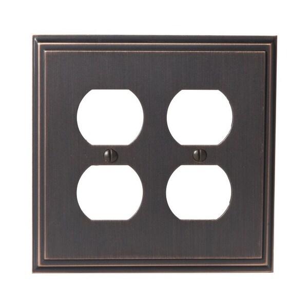 Shop Amerock 1907009 Mulholland Quadruple Outlet Switch Plate Free