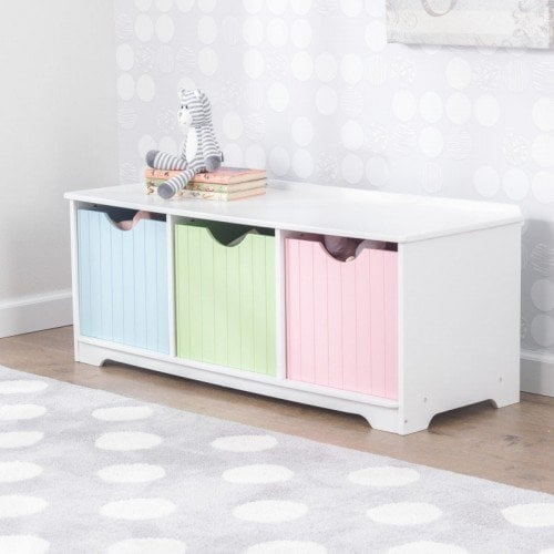 KidKraft: Nantucket Storage Bench   Pastel