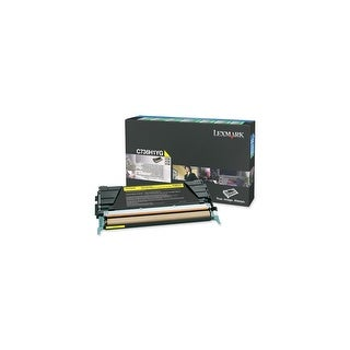 Lexmark C736H1YG Lexmark Yellow High Yield Return Program Toner Cartridge - Yellow - Laser - 10000 Page - 1 Each
