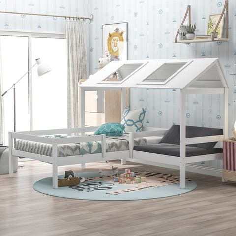 Twin Size House Bed with Relax Seat
