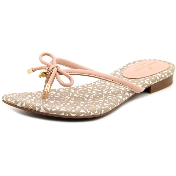 Kate Spade Mistic Women Open Toe Leather Pink Thong Sandal