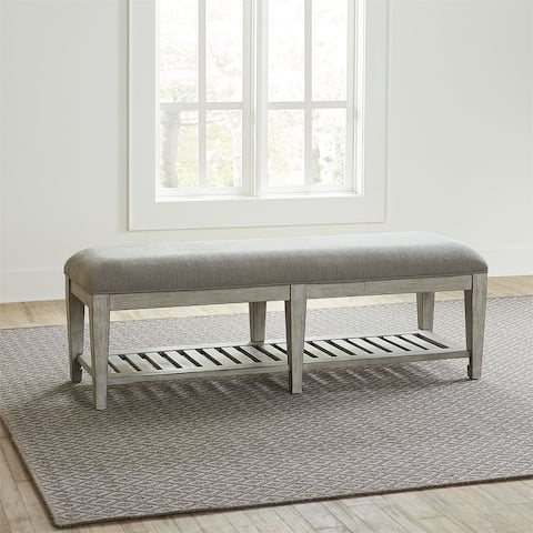 Heartland Antique White Bed Bench